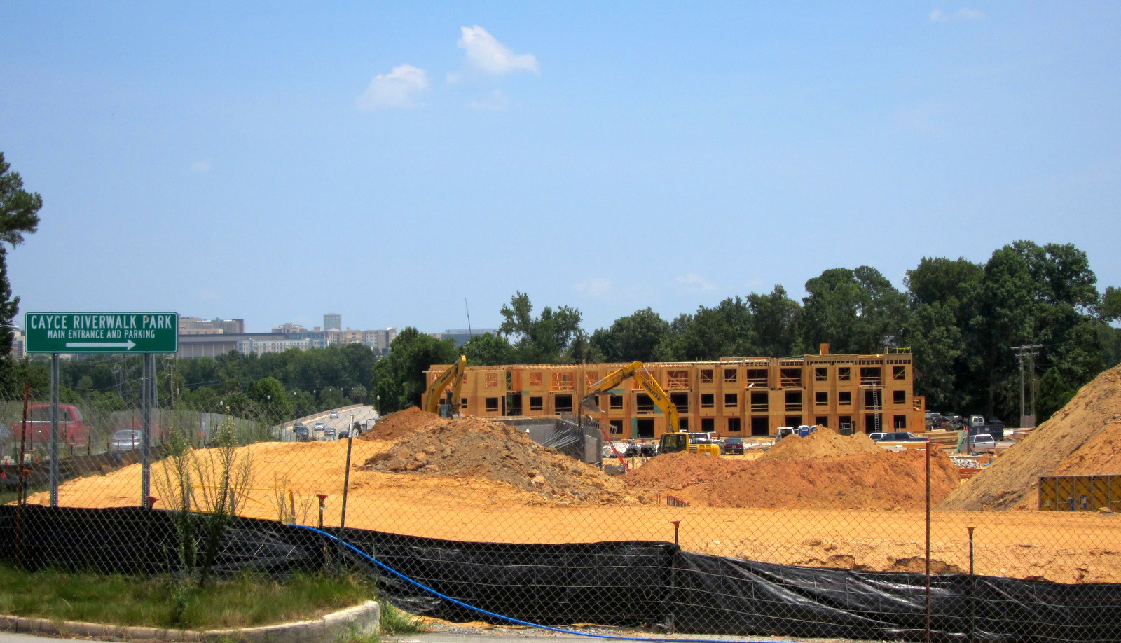 Luxury apartment construction abounds in Cayce and West