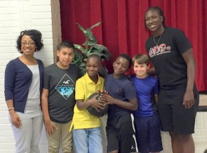 Basketball star visits BC Grammar School No. 1