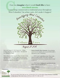 Purchase a Tree for West Columbia Beautification Foundation tribute.