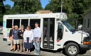 House of Raeford, LICS bless mobile food pantry bus