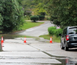 West Columbia roads blocked due to flooding