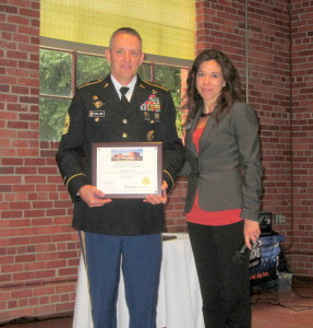 1st Sgt. Michael Rowland receives LMC Live Well Award