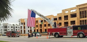 Cayce First Responders unfurl large flag in 9-11 memory