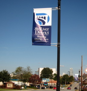 River District banners installed Thursday