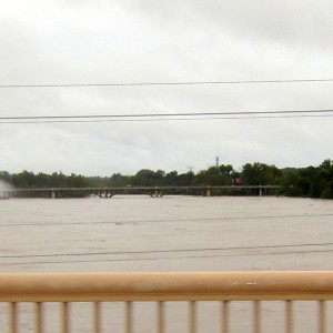 River level increases substantially in 24 hours, photos