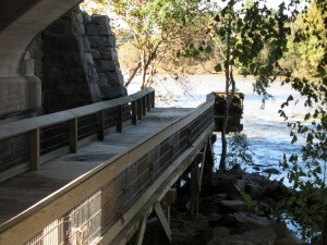 Part of boardwalk on West Columbia Riverwalk washed away