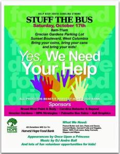 Stuff-the-Bus event is Saturday, 8 a.m., at Grecian Gardens