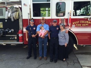 West Columbia firefighters save woman's life in flood