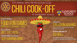 West Metro Rotary Chili Cook-Off is at Glenforest, Saturday