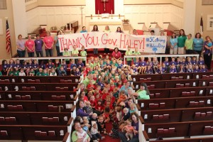 "Hebron Day School sends ""Thank You"" to Gov. Haley"
