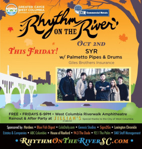 Rhythm on the River moves indoors, Palmetto Pipes and Drums at 6 p.m.