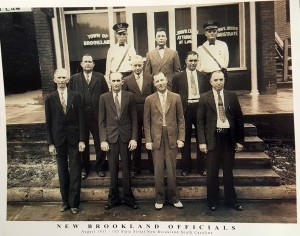 Can you name New Brookland officials from 1937?