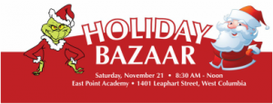 Santa and the Grinch Holiday Bazaar is Saturday at East Point
