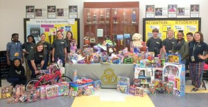 Pine Ridge Middle School collects toys for senior center families