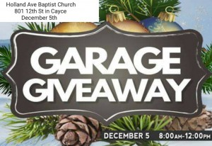 "Holland Avenue Baptist Hosts 3rd Annual ""Garage Giveaway"""