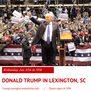 Donald Trump in Lexington County, Jan. 27
