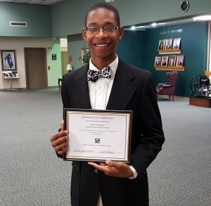 Nino Chambers, 17, recognized for starting  business