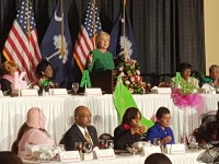 Hillary Clinton makes stop in West Columbia, Wednesday