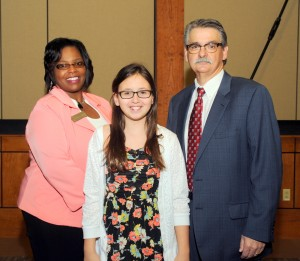 Gracyn Whitaker recognized as Chamber's Student of the Month