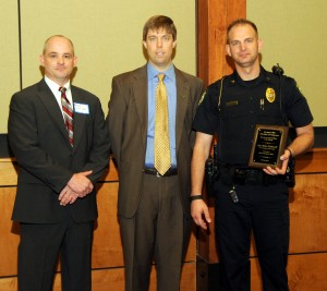 Brian McDowell, named top officer, at Chamber Breakfast