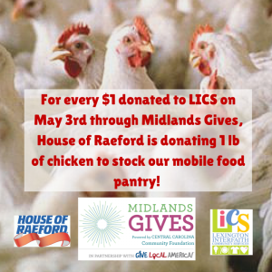 House of Raeford to match chicken for cash to help LICS