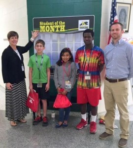 Northside Middle School recognizes Students-of-the-Month