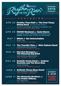 REMINDER: Rhythm on the River Concert Series opens Saturday
