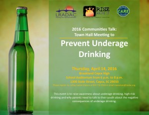 Prevent Underage Drinking Town Hall at BCHS, April 14