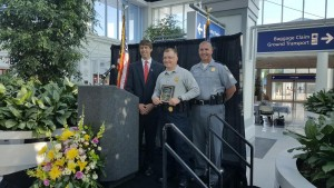 Trooper Gabriel Colbert is Officer of the Month at Chamber Breakfast