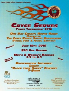 The Cayce Serves – Public Safety- Tennis Tournament, June 18