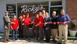 Ribbon cut on Ricky's Tire and Auto Center