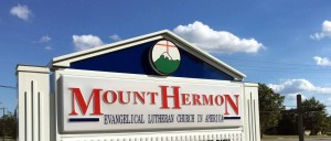 Mt. Hermon Lutheran Church offering Memorial Day service, Monday