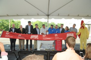 Large crowd for House of Raeford hatchery ribbon cutting