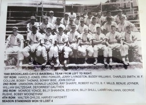Player IDENTIFIED in photo of 1949 Brookland-Cayce Baseball Team