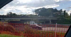 I-26 Leaphart Road Bridge closed, damage significant after collision