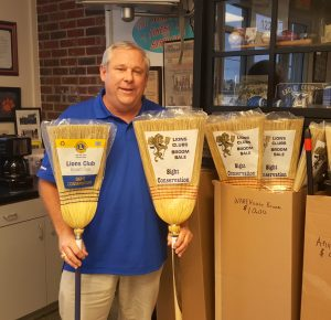 C-WC Lions Club sells brooms to fund sight and hearing health projects