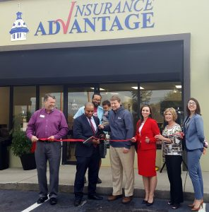 Ribbon cut for Insurance Advantage at 511 Meeting St., West Columbia