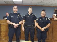 Springdale Police Department swears in two new officers, promotes one
