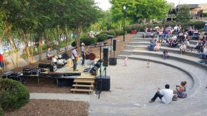Good crowd for Rhythm on the River Concert, Saturday