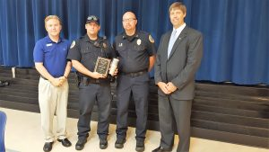 Eddie Stone of the South Congaree Police Department named Officer of the Month