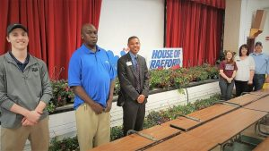 House of Raeford delivers hanging baskets for Teacher Appreciation Week