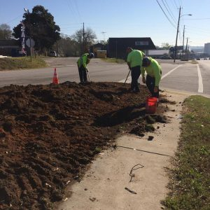 West Columbia Public Works helps beautify city