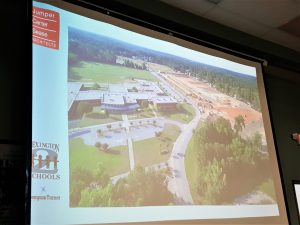 Drone view of new Lexington 2 elementary school presented