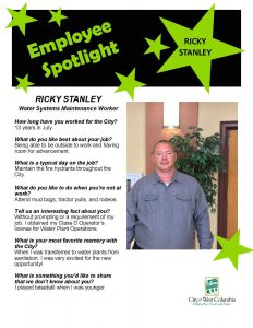 Ricky Stanley in the City of West Columbia's Employee Spotlight