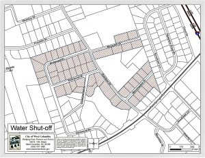 Notice of Disruption of Water Service Tuesday, in Springdale area