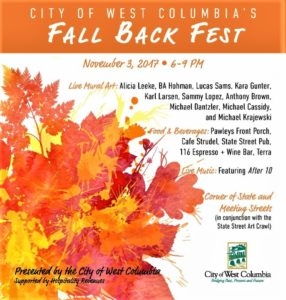 REMINDER: West Columbia hosts Fall Back Fest on State Street, 6 p.m., Friday (Nov. 3)