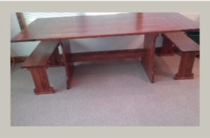 Table crafted from BCHS bleacher to be auctioned at BBQ supper, Thursday