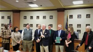 City of West Columbia presents longtime broadcaster Joe Pinner Key to the City