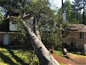West Columbia home looks to be a total loss to Sunday's storm