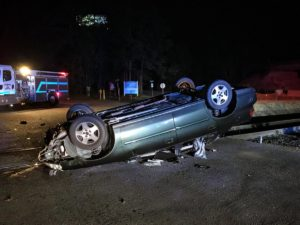 Police investigated collision on Dooley Road, Monday night